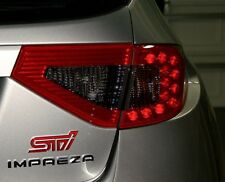 Red & Smoked Center Tail Light Vinyl Overlays for 08-14 Subaru Impreza WRX STI