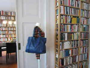 FURLA XL-Shopper mittel-blau Rind-Leder Designer-Tasche Büro Uni Weekender