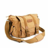 BESTEK Waterproof Canvas SLR Digital Camera Bag for Canon/Nikon/Sony/Pentax DSLR