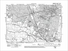 Crowthorne, Sandhurst, old map Berkshire 1912: 46SE