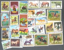Horses 100 all different-stamp- collection
