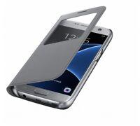 Original Samsung Galaxy S7 S-View Flip Cover Case EF-CG930 Hülle Tasche silber
