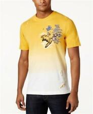 Sean John Embroidered Graphic Cotton T Shirt Golden Yellow Mens Size XL New