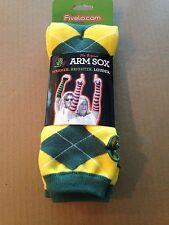 FIVELO Greenbay Packers Argyle  Arm Sox