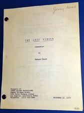 THE JAZZ SINGER original script NEIL DIAMOND 1980 LAURENCE OLIVIER LUCIE ARNAZ