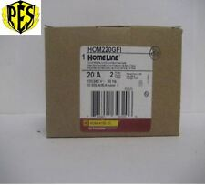 ~NEW~SQUARE D HOMELINE HOM220GFI 2 POLE 20 AMP GROUND FAULT BREAKER ~ NEW STOCK