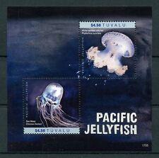 Tuvalu 2017 estampillada sin montar o nunca montada Pacific medusas 2v S/S MAR WASP Marine sellos