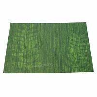 Rectangular Green Leaf Woven Fabric Placemats Dining Table Setting Place Mats