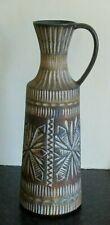 More details for vintage 1960s/70s  large french multi-coloured patterned vase