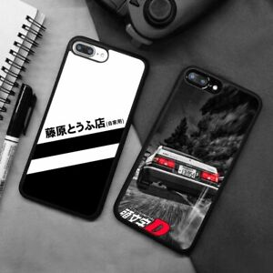 Fujiwara Tofu Initial D Anime Silicone Case Cover For iPhone Samsung Huawei