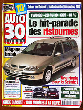 Auto 30 jours du 2/1999; Match Smart-Twingo/ Salon de Detroit/ Mégane Break