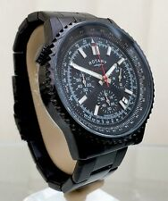 Rotary Mens Watch Black Ocean Range Chronograph RRP £190 Genuine Boxed (r51