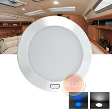 12V Ultra Slim LED Dome/Down/Roof/Ceiling Light 2Pauses Programmed Switch RV/Car