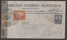 COLOMBIA. 1945. CENSORED COMMERCIAL AIR MAIL COVER. BUCARAMANGA POSTMARK. ADDRES