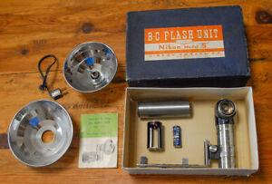 Vintage Nikon BCB II Handle Flash Unit for Nikon S w/box - EP Engraved