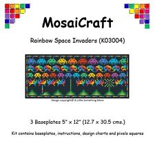 "Mosaicraft Pixel Craft Art Mosaïque Kit ""Arc-en-Space Invaders 'pixelhobby"