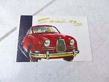 Saab 93B 1957 gamme catalogue brochure dépliant sales commercial prospekt