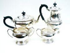 4 Piece Silver Tea Set, Sterling, English, Hallmarked 1944, Roberts & Dore Ltd