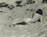 Original Vintage Outdoor Female Nude Beach Everard Photo Gravure Print 30s49