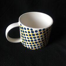 KATE SPADE Saturday Blue Yellow Polka Dot Mug Coffee Tea