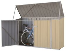 Absco Garden Bike Shed 2.26m x 0.78m x1.31m Storage Outdoor Sheds Classic Cream
