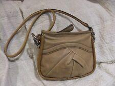 "B.Makowsky Ash Tan Pebbled Leather Shoulder Handbag, 10"" x 8"""