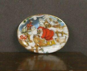 PORCELAIN  PLATTER ~ Dollhouse Mini ~ England ~ 1:12 scale ~ Christmas ~ Artisan