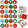 500 Stück/Rolle Weihnachten Sticker Aufkleber DIY Dichtung Aufkleber Scrapbook