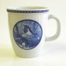 Garden bird Mugs - Blue neck - Porcelain Mug Made in Denmark