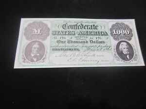 Copy Of 1861 $ 1.000 Confederate States of America Bill #1
