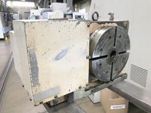 "Tsudakoma 10"" CNC Rotary Table 4-Axis Model RNCM-251L  Removed from a Mazak VTC"
