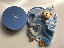 Kaloo Blue Bear With Hat & Mouse Doudou