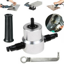 Double Head Sheet Nibbler Metal Cutter Saw Cutting Drill Attachment Tool Set US