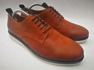 "70% OFF! Hudson ""Calverston"" Derby Tan Leather Lace Up Mens Shoes, UK 8/EU 42"