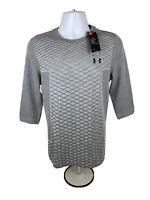 Under Armour Men's Vanish Seamless 3/4 Sleeve Gray Pullover Training Shirt Sz S