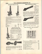 1937 PAPER AD Badger Power Boy Car Mover King Roller Railroad Tool Blackhawk