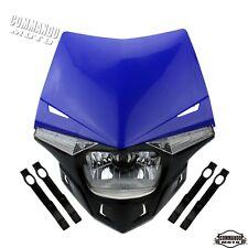 Blue Motorcycle Streetfighter Enduro LED Headlight For Yamaha WR250X 2008-2011