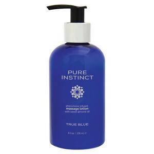 Pure Instinct Pheromone Massage Lotion With Almond Oil - True Blue - 8 fl oz