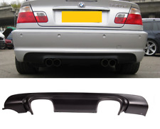 BMW 3 series E46 2dr 4dr M sport M3 CSL stye quad rear diffuser bumper skirt UK