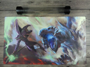 YuGiOh Dark Magician VS Blue-Eyes White Dragon TCG Custom Playmat Free Best Tube