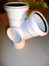 """4""""/110MM MARLEY SOIL DRAIN DRAINAGE PIPE FITTING TWO BOSS 45º BRANCH SY460.."""