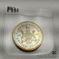 1971 Canada Silver Dollar UNCIRCULATED Nicely Toned 1871-1971 BC #coinsofcanada