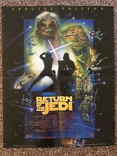 "Star Wars Episode 6 Return of the Jedi Movie Promo Poster 2002 15""x19"" The Sun"