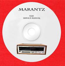 Marantz 5220 Repair Service manual on 1 cd in pdf format
