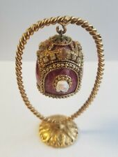 Kingspoint Designs #50564. Collectible Trinket Box. Quail Egg. Gold, Jewels