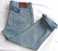 POLO RALPH Lauren Sardenia Women's   Distressed Ripped Sky Blue Jeans, W32