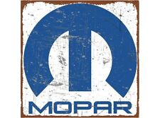NEW Mopar Blue and White tin metal sign