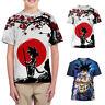 Kids Boys Girls 3D Cartoon Printing T-Shirts Crew Neck Short Sleeve Casual Tops