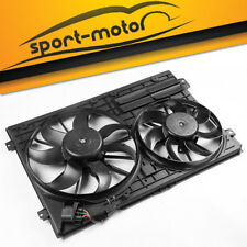 Radiator Cooling Dual Fan Assembly fit for Audi Quattro VW Bettle Golf GTI 2.0