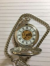 Half Hunter Mechanical Pocket Watch